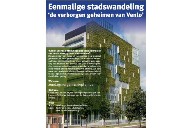 Citywalk in Venlo with possibility to visit City Hall