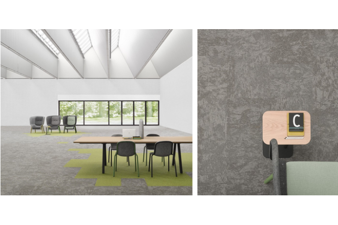 Over 90% of Desso's commercial carpet tile collection is Cradle to Cradle
