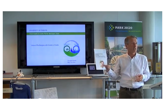 "Video Douglas Mulhall about ""why the circular Economy is empowered by C2C"" at C2C-Centre"