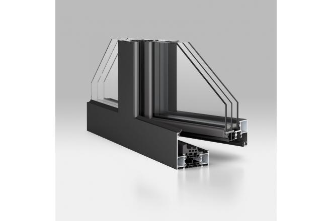 Aluminium Windows WICONA Bronze