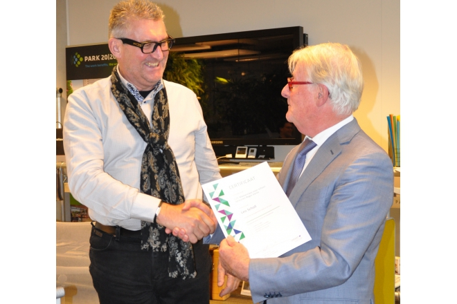 Schools from the Venlo region receive a certificate for the C2C Masterclass