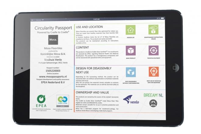 Circularity passports powered by Cradle to Cradle