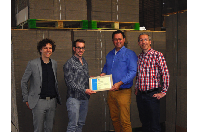 VPK Packaging BV receives bronze certificate for their corrugated fiberboard