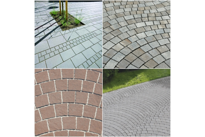 ARTE Grey and Segmental Arch Pavers