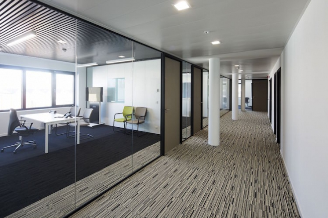 Removable Partitions with Integrated Door