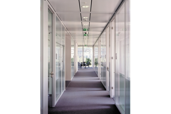 Lindner Life Glass Partitions with Integrated Doors