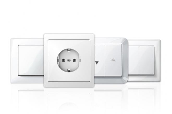 System M & System Design Switch and Socket Outlet Range - Silver