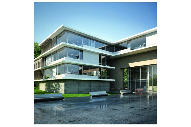 Schüco Aluminium selected Façade-, Window-, and Sliding Systems Bronze