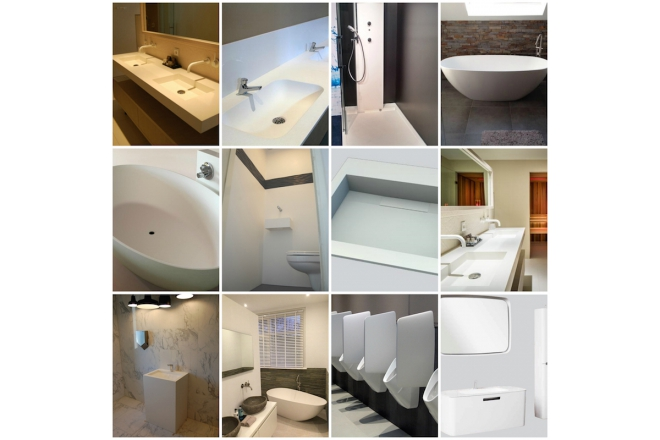 Gemma Solid Surface White