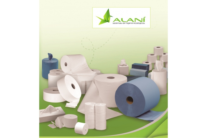 ALANI toilet rolls and towels.