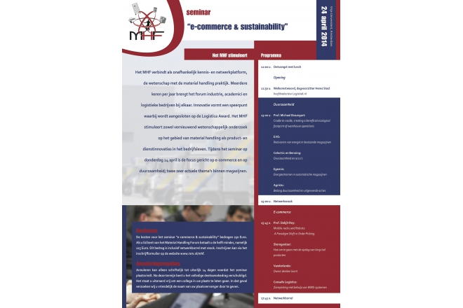 Come to the seminar 'E -commerce and sustainability' at 24th of April