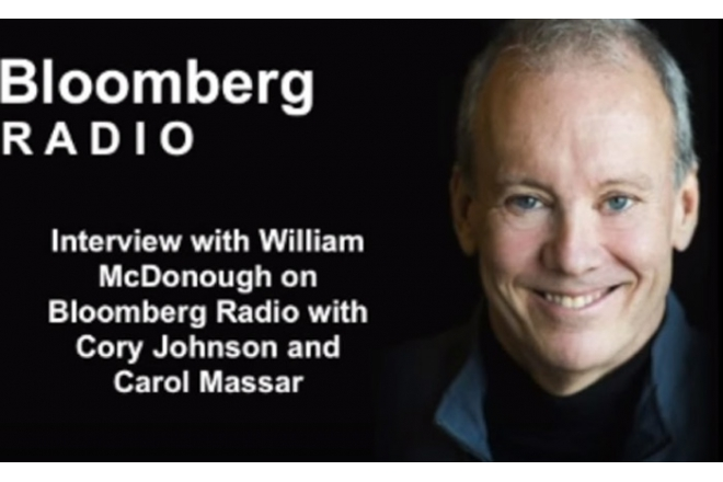 Bloomberg Radio Interview with William McDonough
