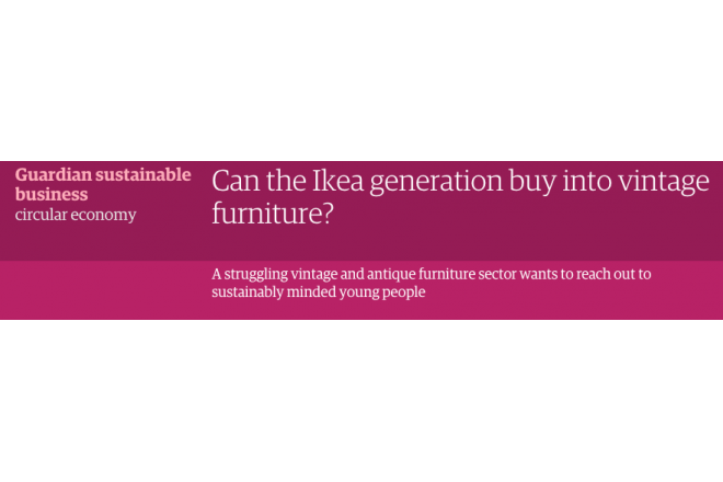 Article the Guardian about Sustainable alternatives to cheap furniture among other things