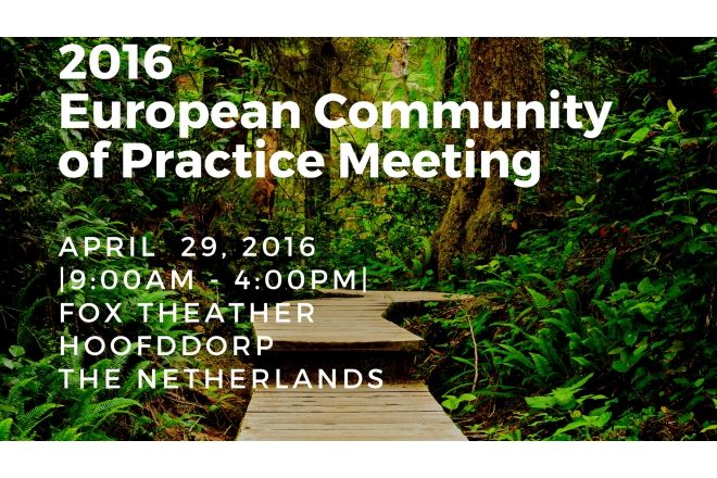 2016 European Community of Practice Event - April 29th - Park 2020