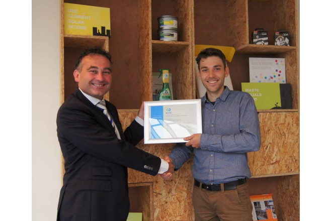 Van Swaaij receives C2C Bronze certificate