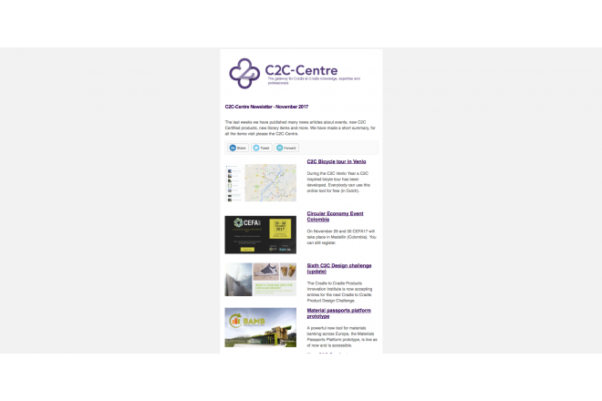 C2C-Centre newsletter of November has been sent