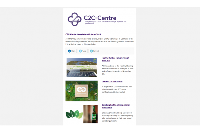 C2C-Centre newsletter of October