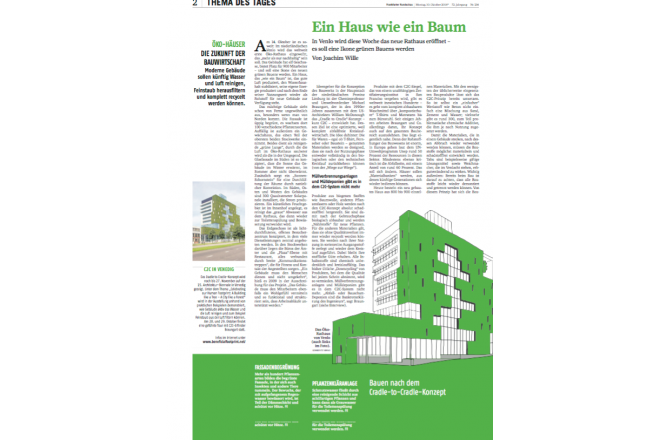 German paper about C2C City hall Venlo