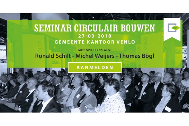 Seminar Duurzaam Gebouwd about circular buildings