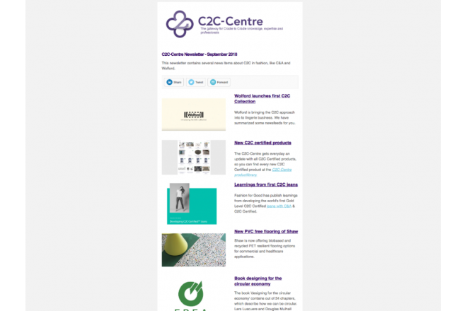New C2C newsletter