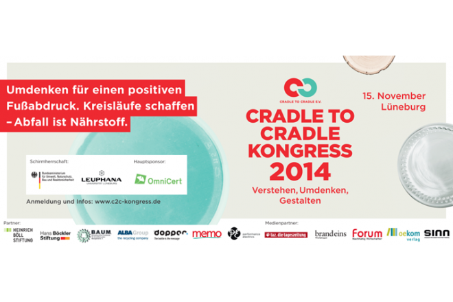 Invitation to the first Cradle to Cradle Congress 2014 in Lüneburg on 15 November