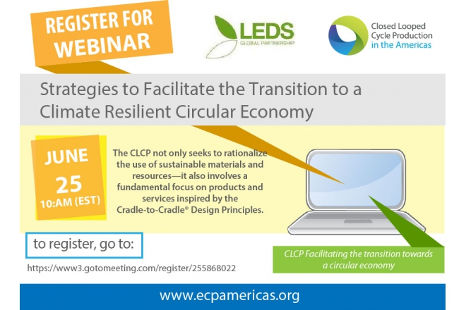 Register for webinar: Strategies to facilitate the transition to a climate resilient Circular Economy