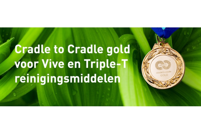 Cradle to Cradle gold certificate for Alpheios Cleaning products