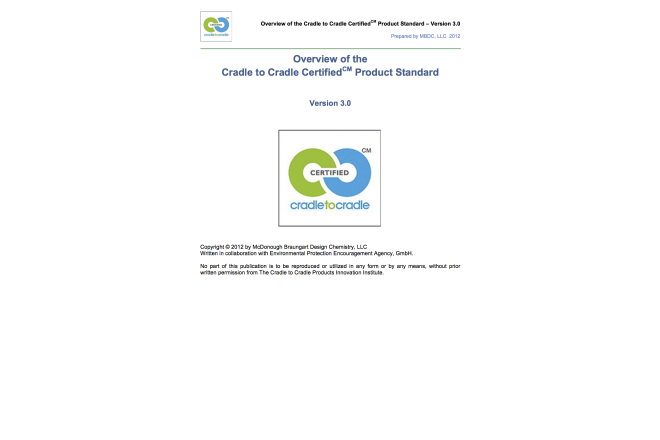 Overview of the Cradle to Cradle Certified Product Standard
