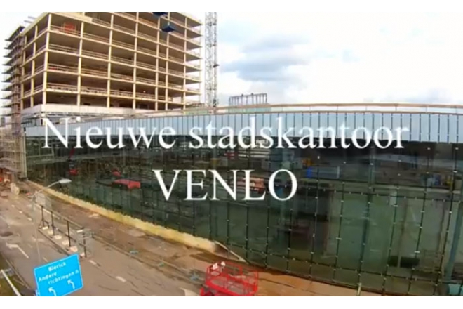 City Hall Venlo drone video during building process (2015-03-05)