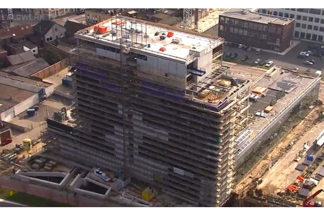 City Hall Venlo video during building process (2015-03-22)