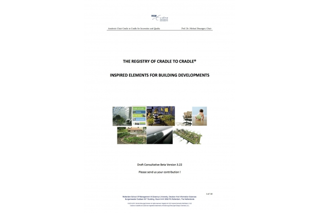 The Registry Of Cradle to Cradle® Inspired Elements For Building Developments