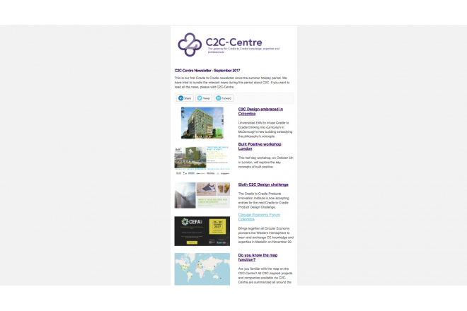 C2C-Centre newsletter of September has been sent