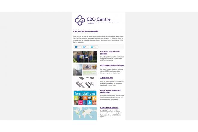 C2C-Centre nieuwsbrief van september verzonden