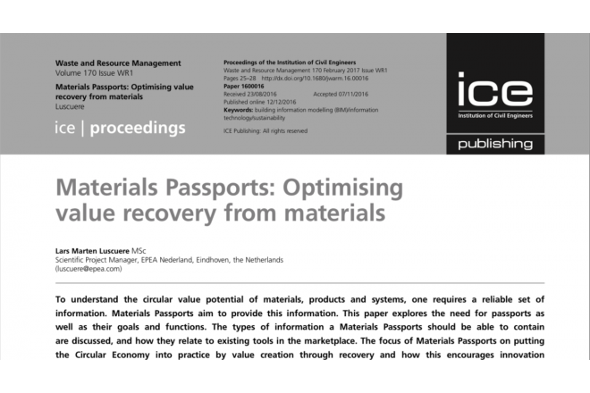 EPEA scientific paper on Materials Passports