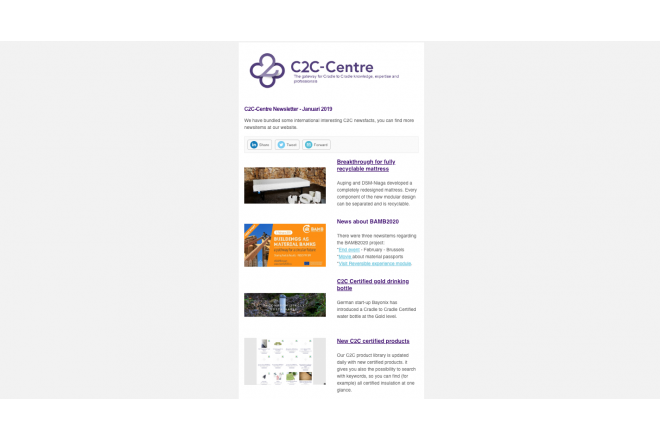 First C2C-Centre newsletter of 2019