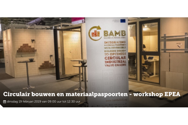 Workshop in Belgium about materialpasports and circularity in the built environment