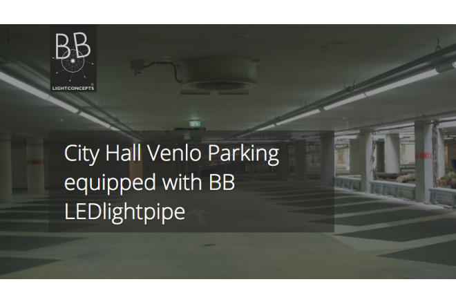City Hall Venlo Parking equipped with BB LEDlightpipe