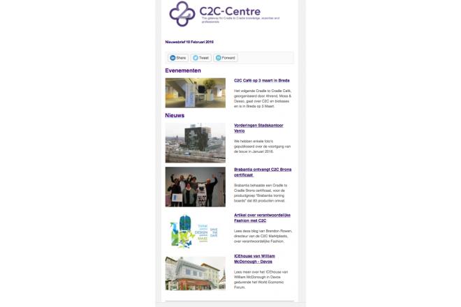 C2C-Centre nieuwsbrief van 18 februari