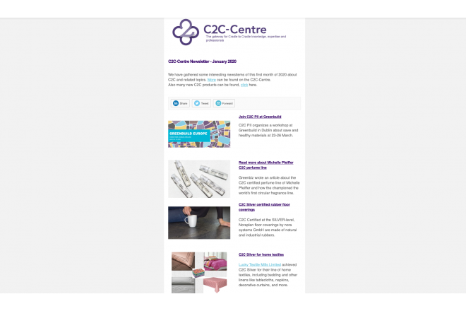 First C2C-Centre newsletter of 2020