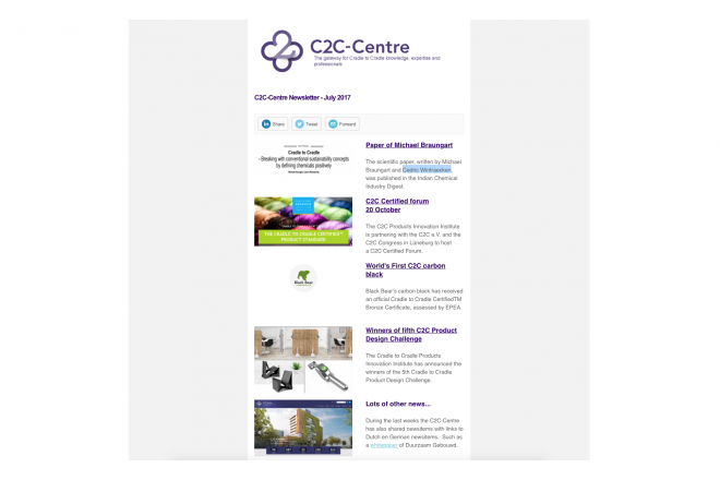 C2C-Centre newsletter of July has been sent