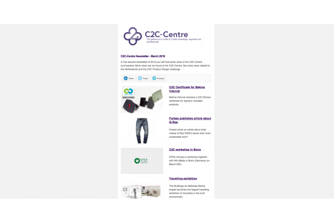 C2C-Centre newsletter has been sent