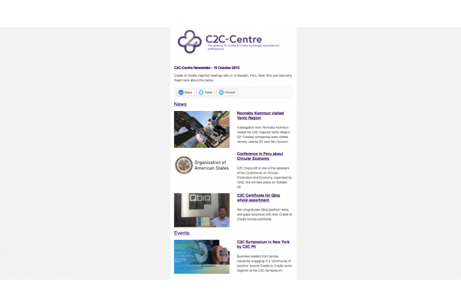 Stay up-to-date via the C2C-Centre newsletter