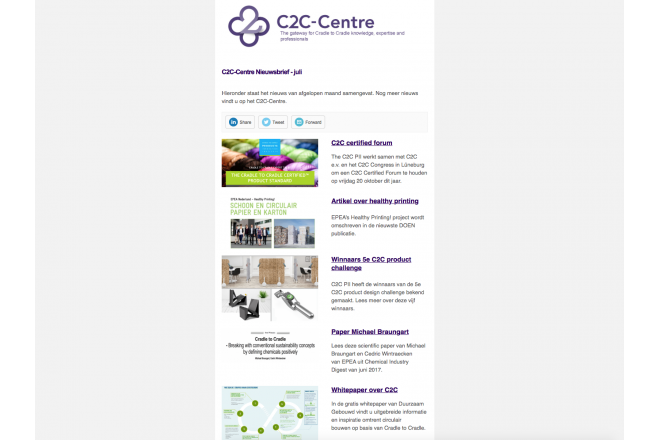 C2C-Centre nieuwsbrief van juli verzonden
