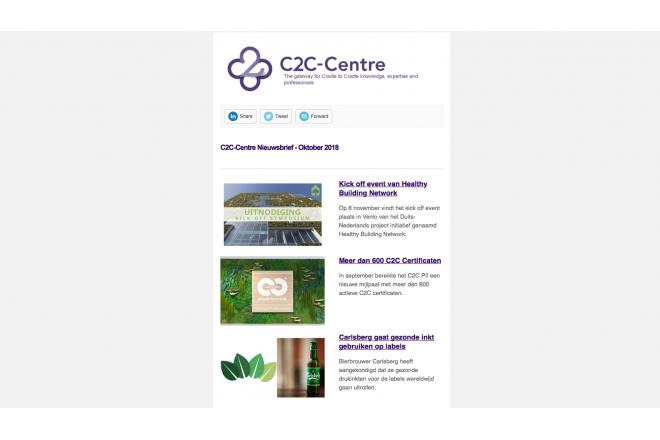 C2C-Centre nieuwsbrief van oktober