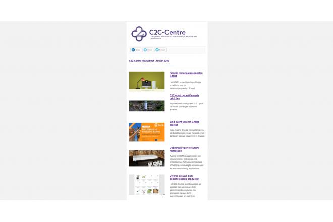 Eerste C2C-Centre nieuwsbrief van 2019