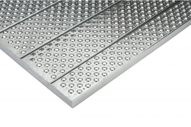 Staco hot-dip galvanized steel gratings, stair treads and perfo planks