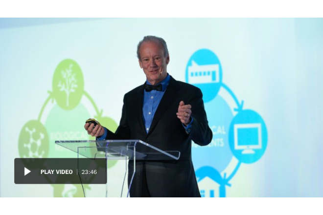 William McDonough spoke at the Annual New York Times International Luxury Conference