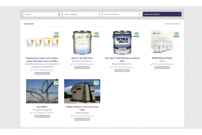 Do you know all these C2C Certified painting products?