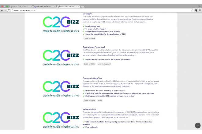 Do you know about these tools of the C2C BIZZ projects?