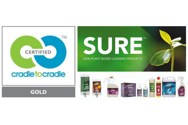 Diversey's SURE® plant-based cleaning solutions receive Cradle-to-Cradle GOLD certification